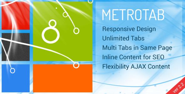 Responsive Metro Tab