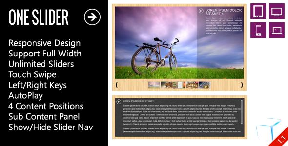 OneSlider - Interactive Content Slider