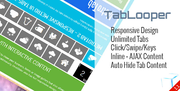 TabLooper Responsive Loop Tab Metro UI