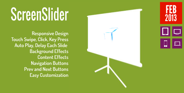 Screen Slider Presentation Responsive Touch