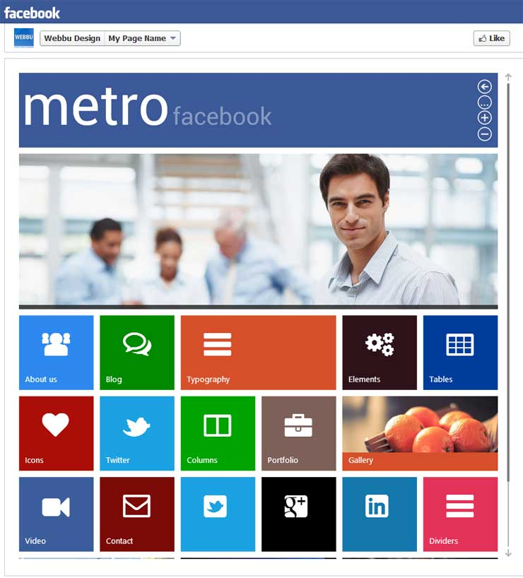 metro-facebook-timeline-html-template