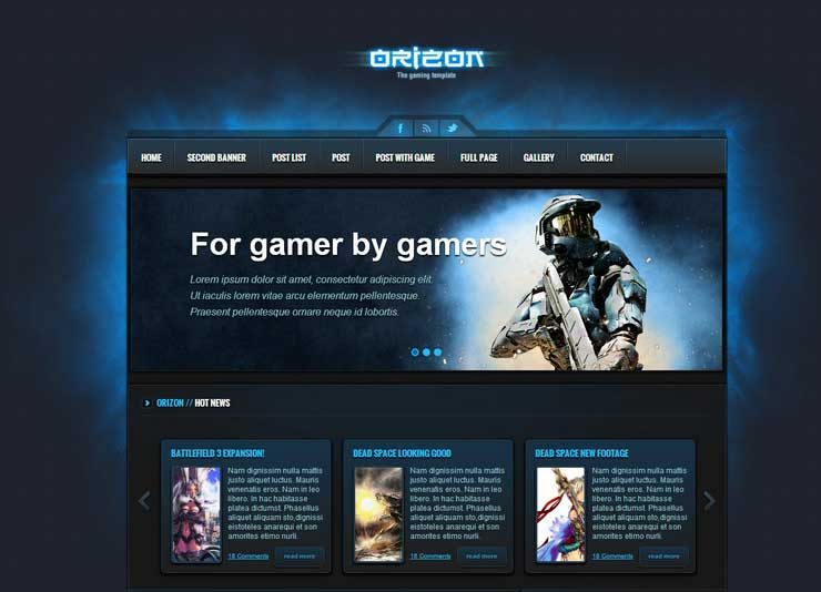 orizon-the-gaming-template-wp-version