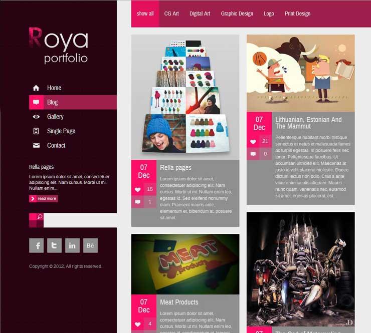 roya-responsive-portfolio-wp-theme